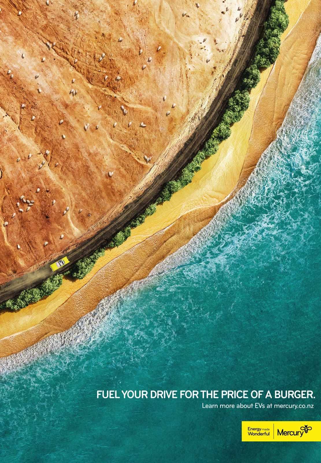 Mercury Energy Print Ad - Burger Run