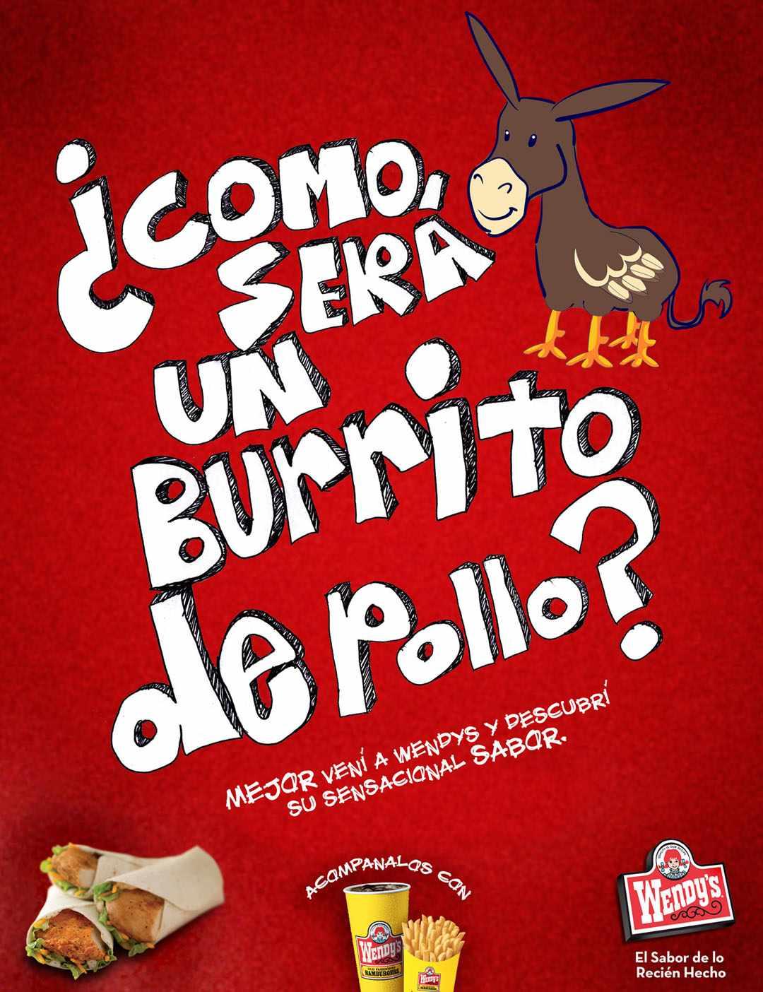 Burrito de Pollo Wendy's