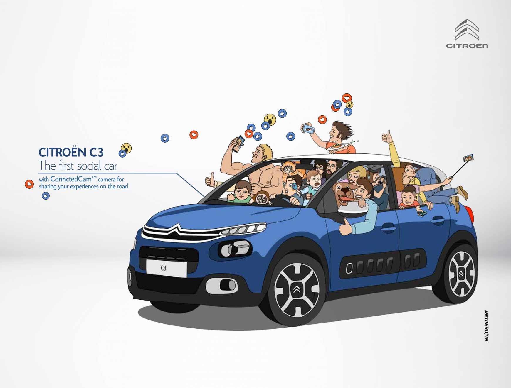 Citroën Print Ad - The First Social Car