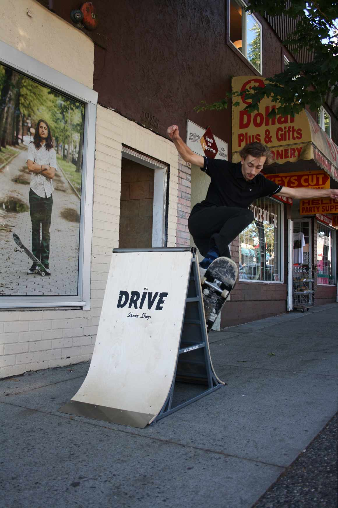 The Drive Skate Shop Outdoor Ad - Skateable Sandwich Board & Poster