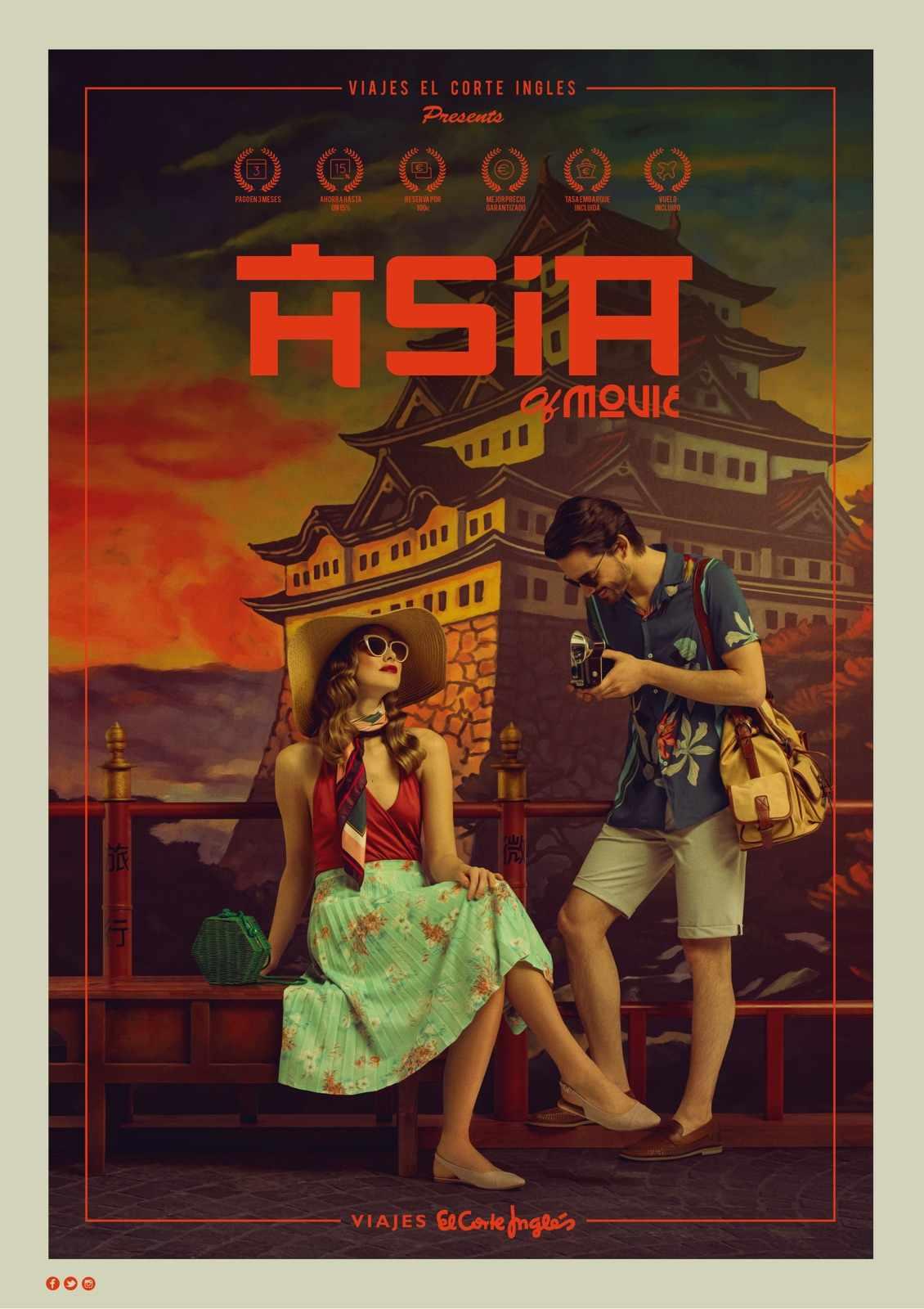Viajes el Corte Ingles Print Ad - Asia of Movie
