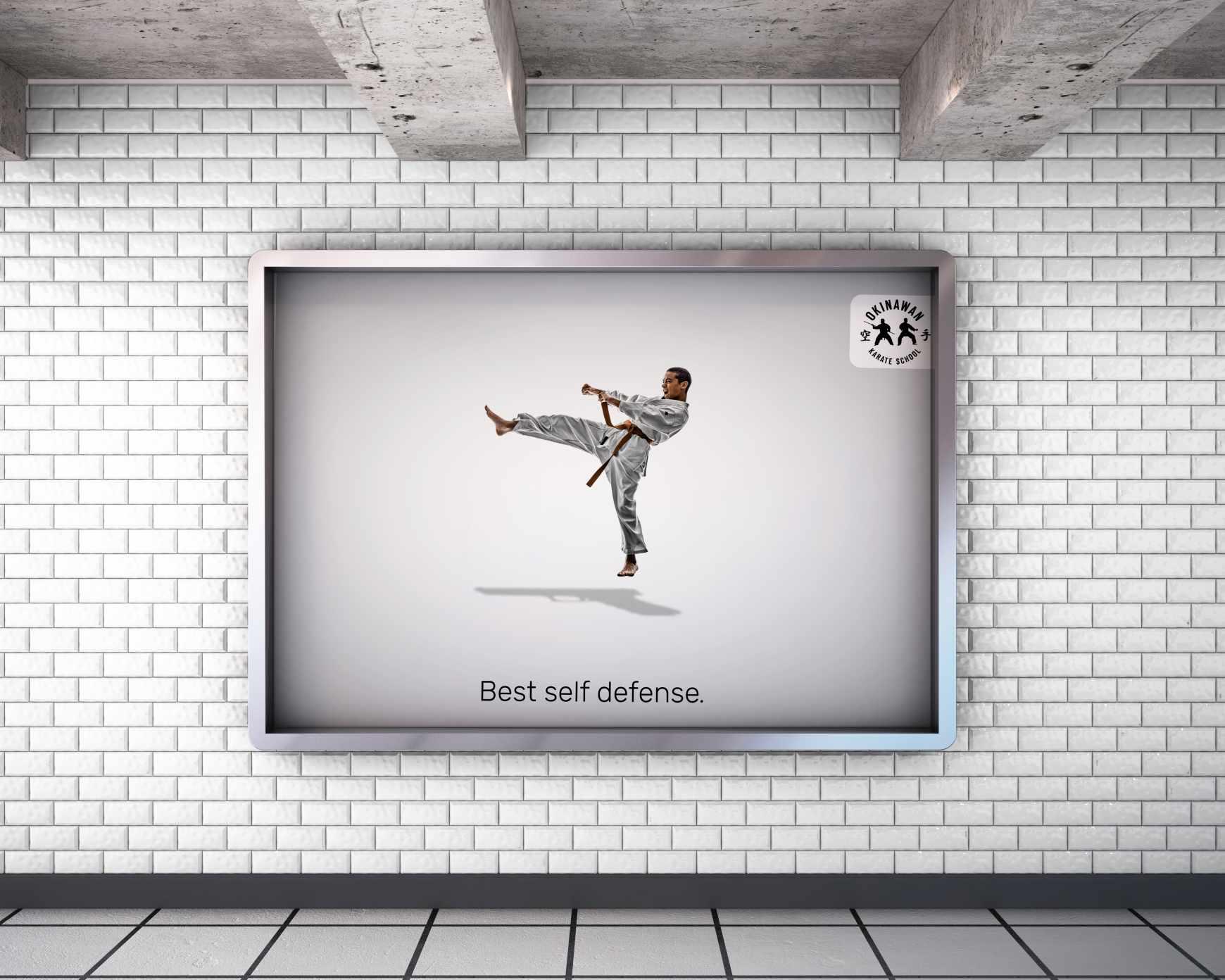 Okinawan Karate School Print Ad - Best self defense