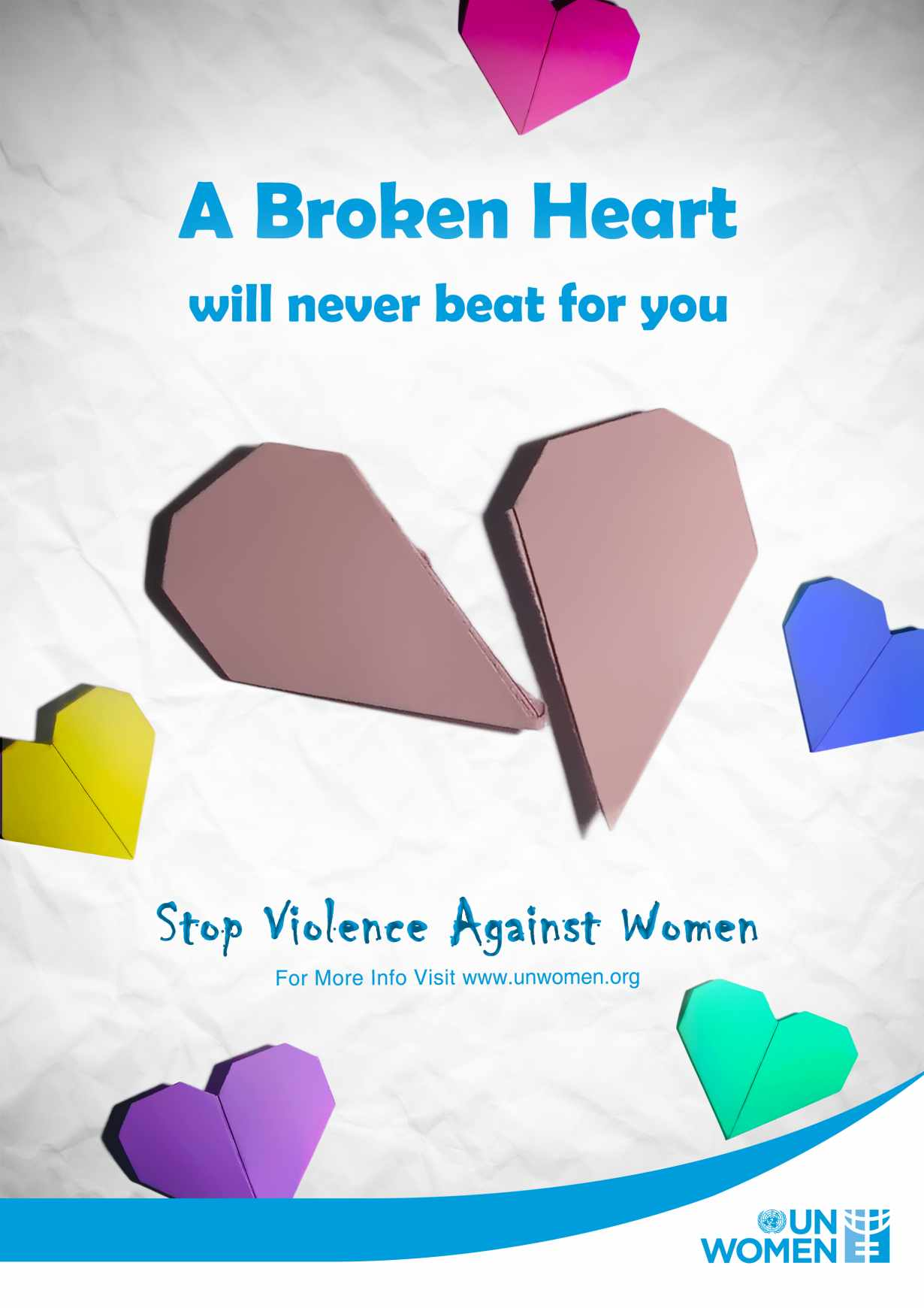 UN Women Print Ad - Never - Broken Heart