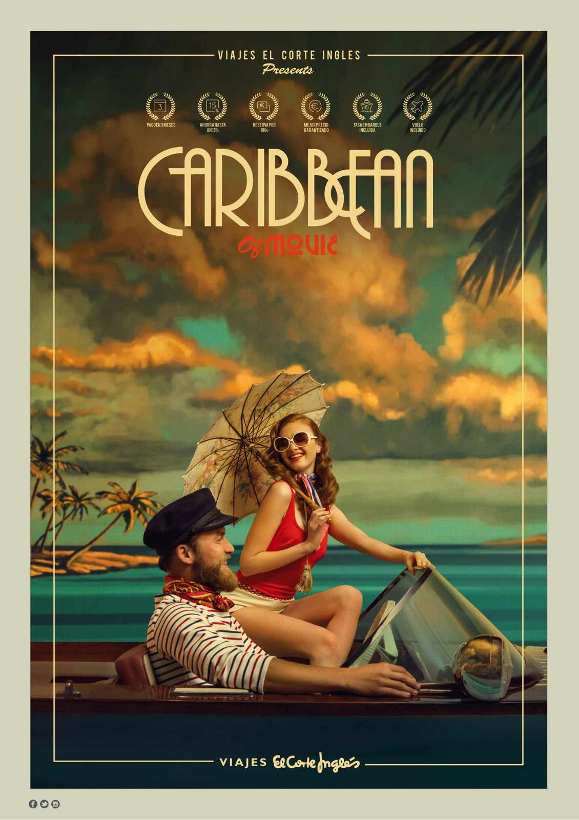 Viajes el Corte Ingles Print Ad - Caribbean of Movie