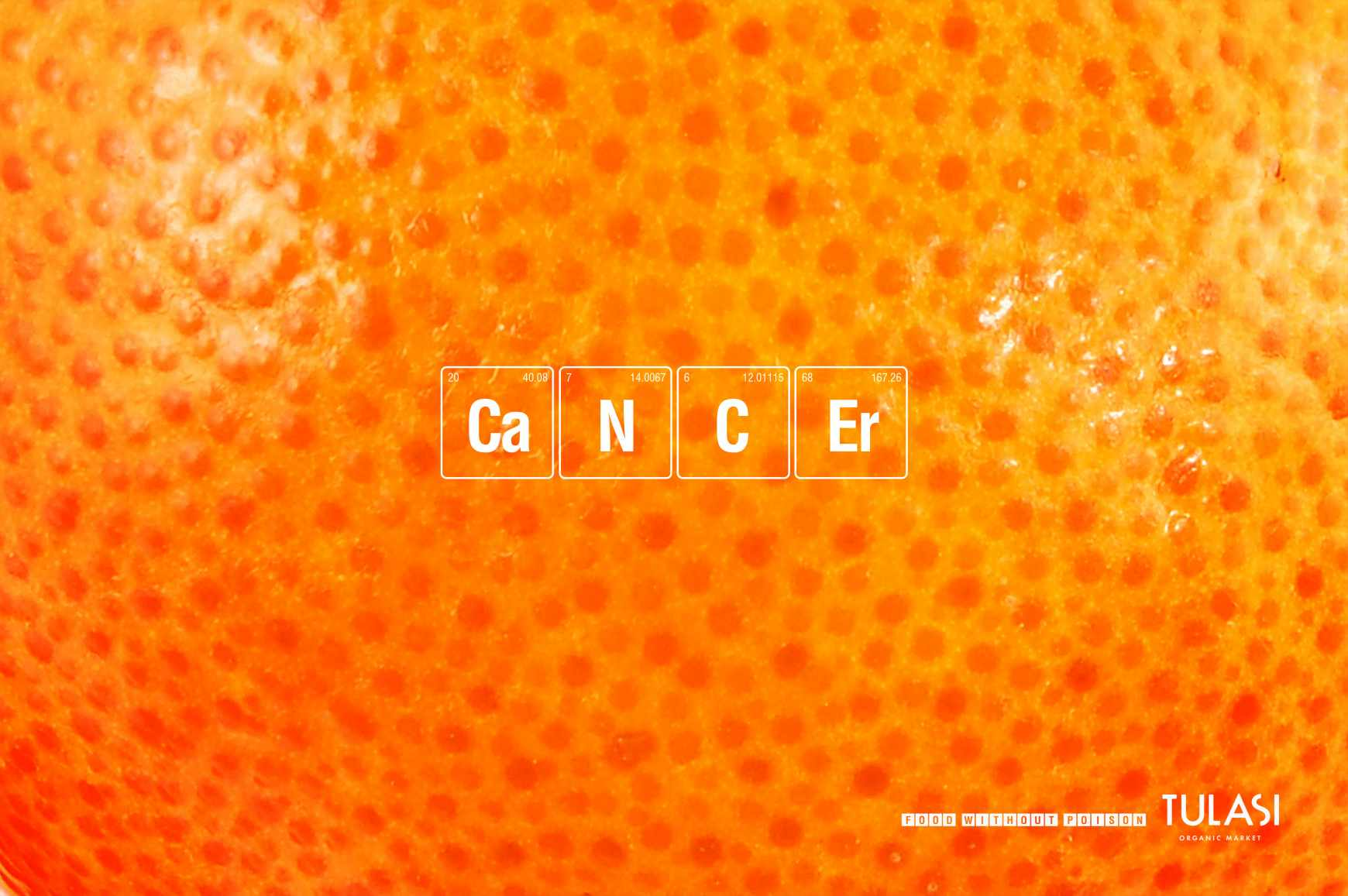 Tulasi Organic Market Print Ad - Orange