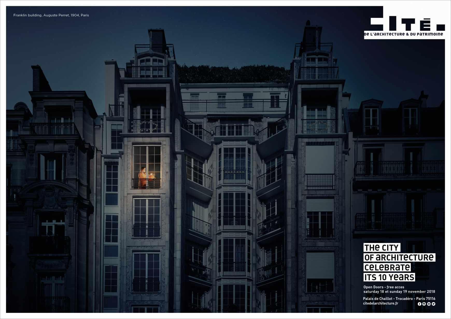 cité de l'architecture et du patrimoine Print Ad - Immeuble Franklin