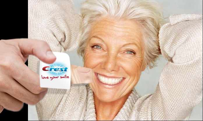 Crest whitening strips.
