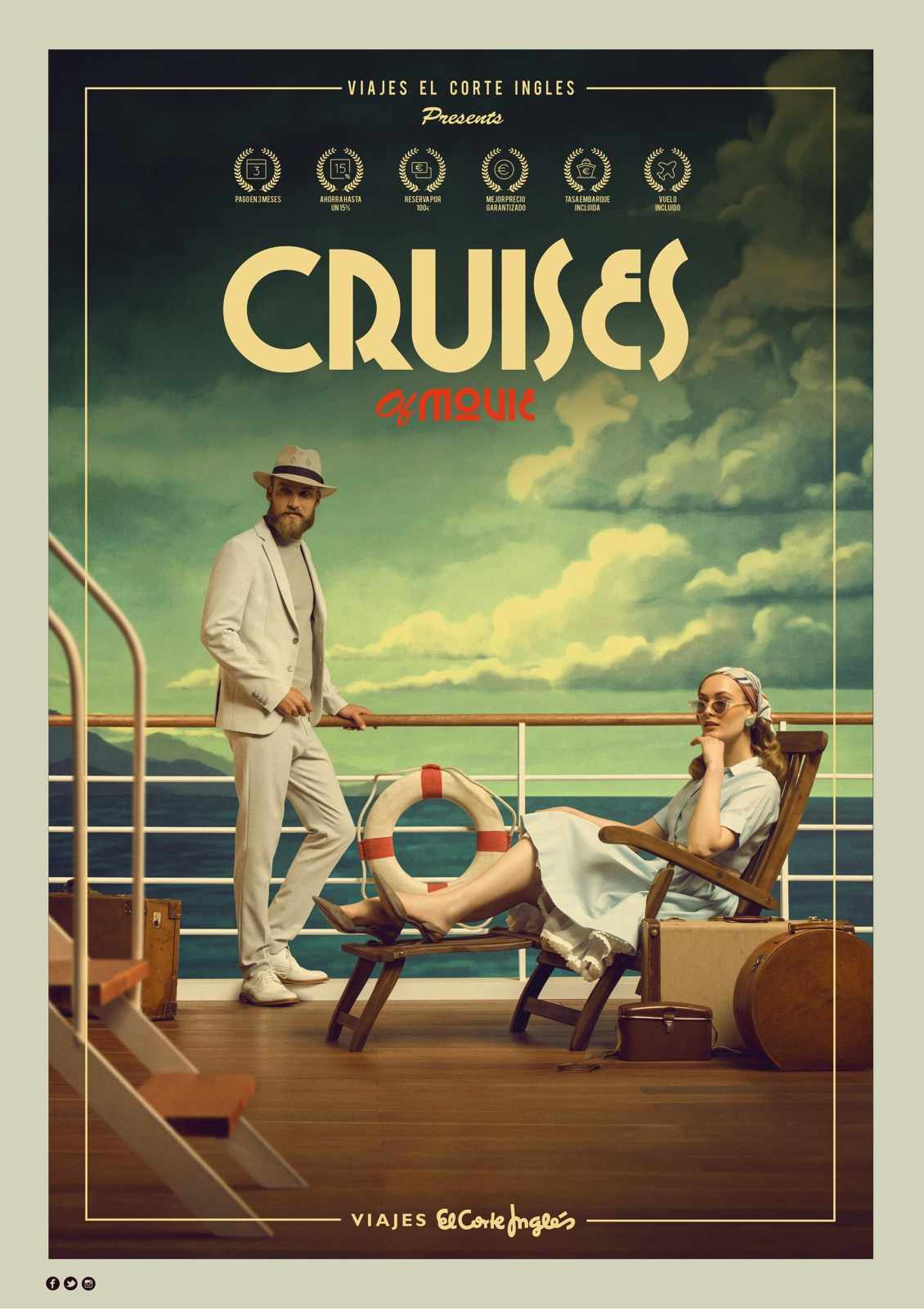 Viajes el Corte Ingles Print Ad - Cruises of Movie