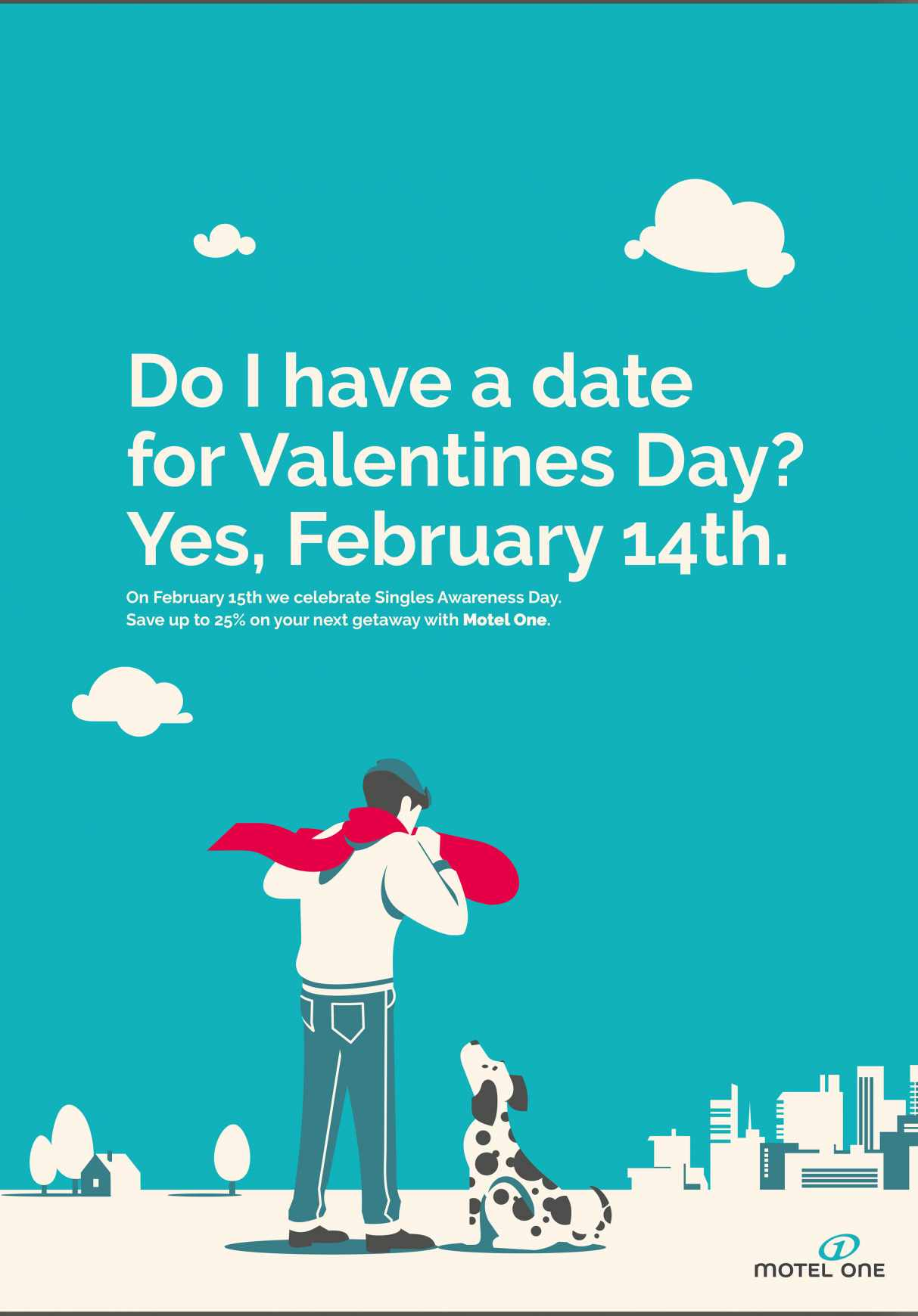 Motel One Print Ad - Singles Awareness Day, 3