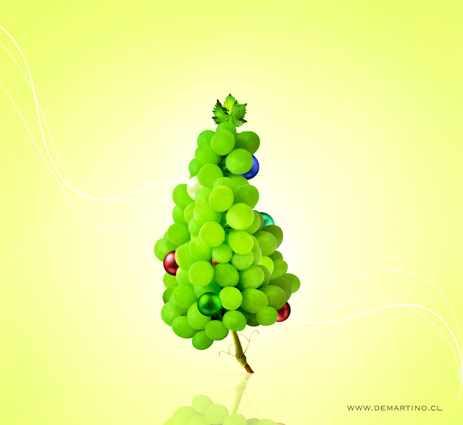 Tarjeta de Navidad para Viñedo - Christmas card for brand of wine.
