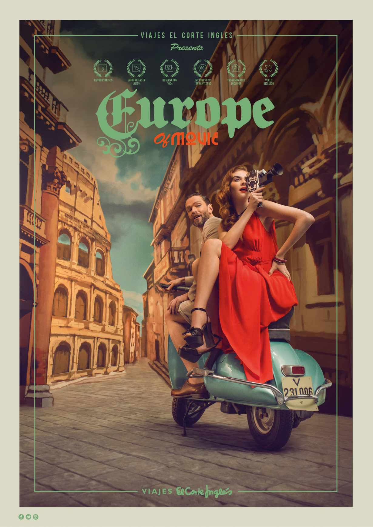 Viajes el Corte Ingles Print Ad - Europe of Movie