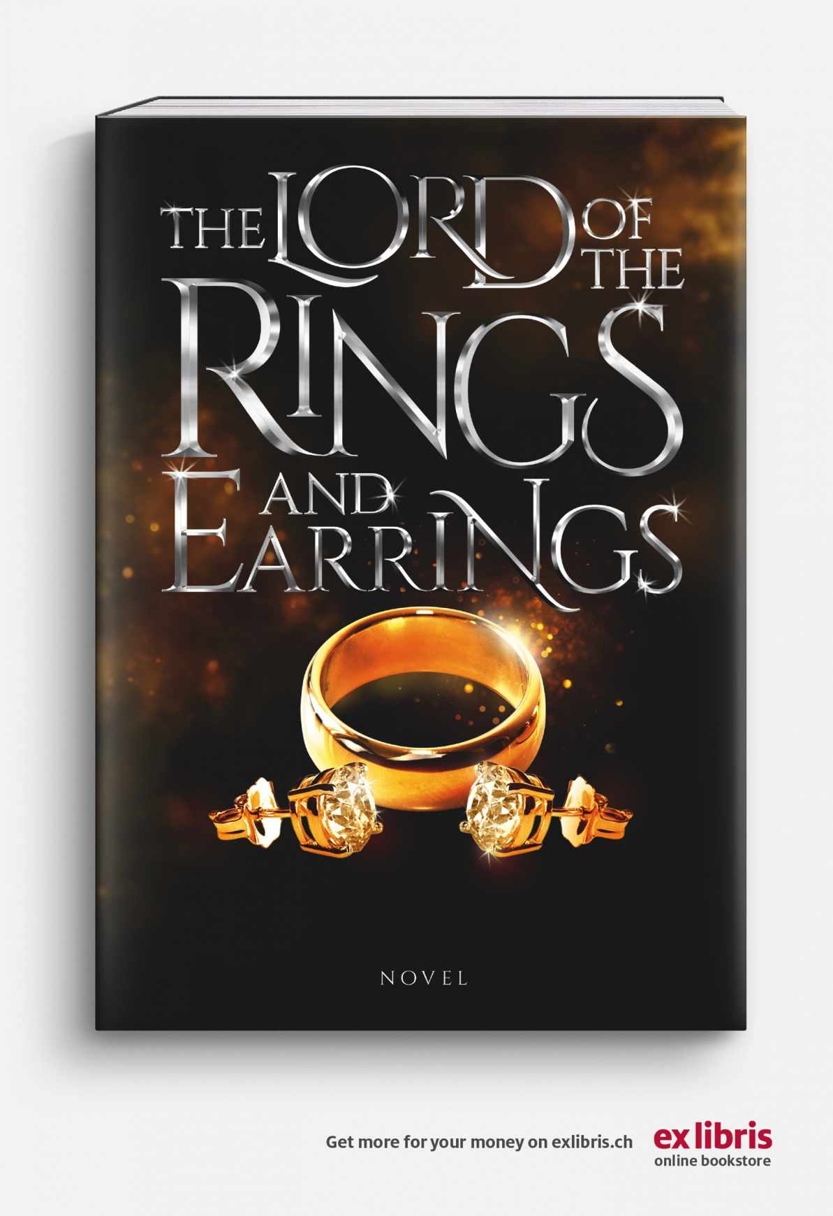 Ex Libris Print Ad - The Lord Of The Rings And Earrings