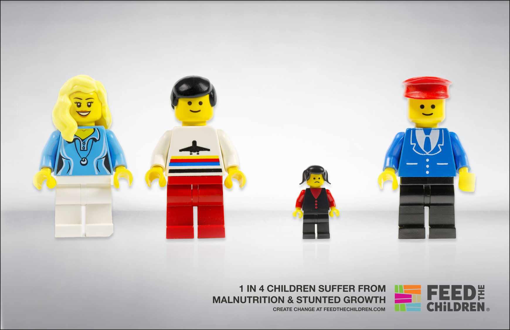 Feed the Children Print Ad - Legos