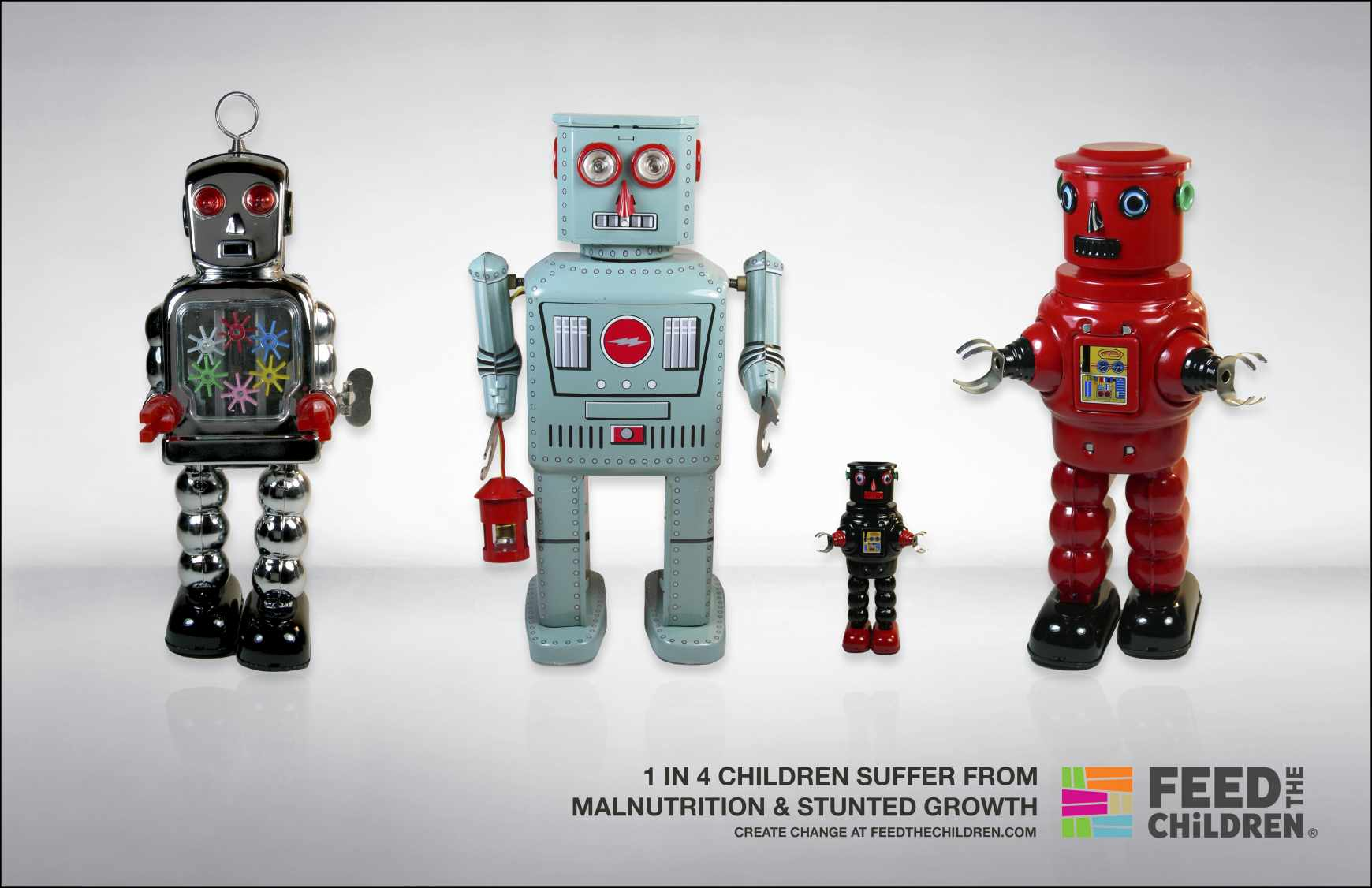 Feed the Children Print Ad - Robots