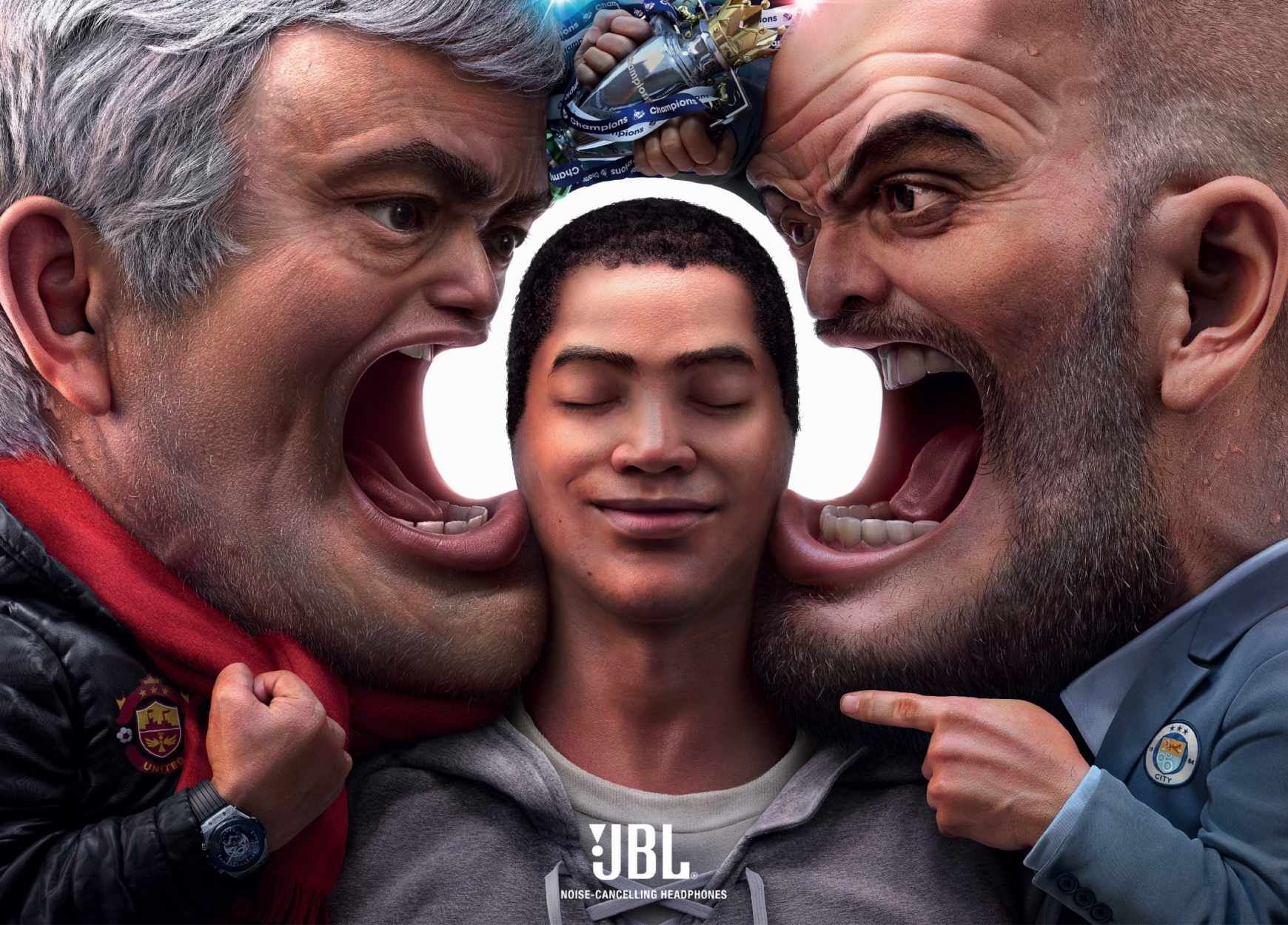 JBL Print Ad - Block out the Chaos, Football Managers