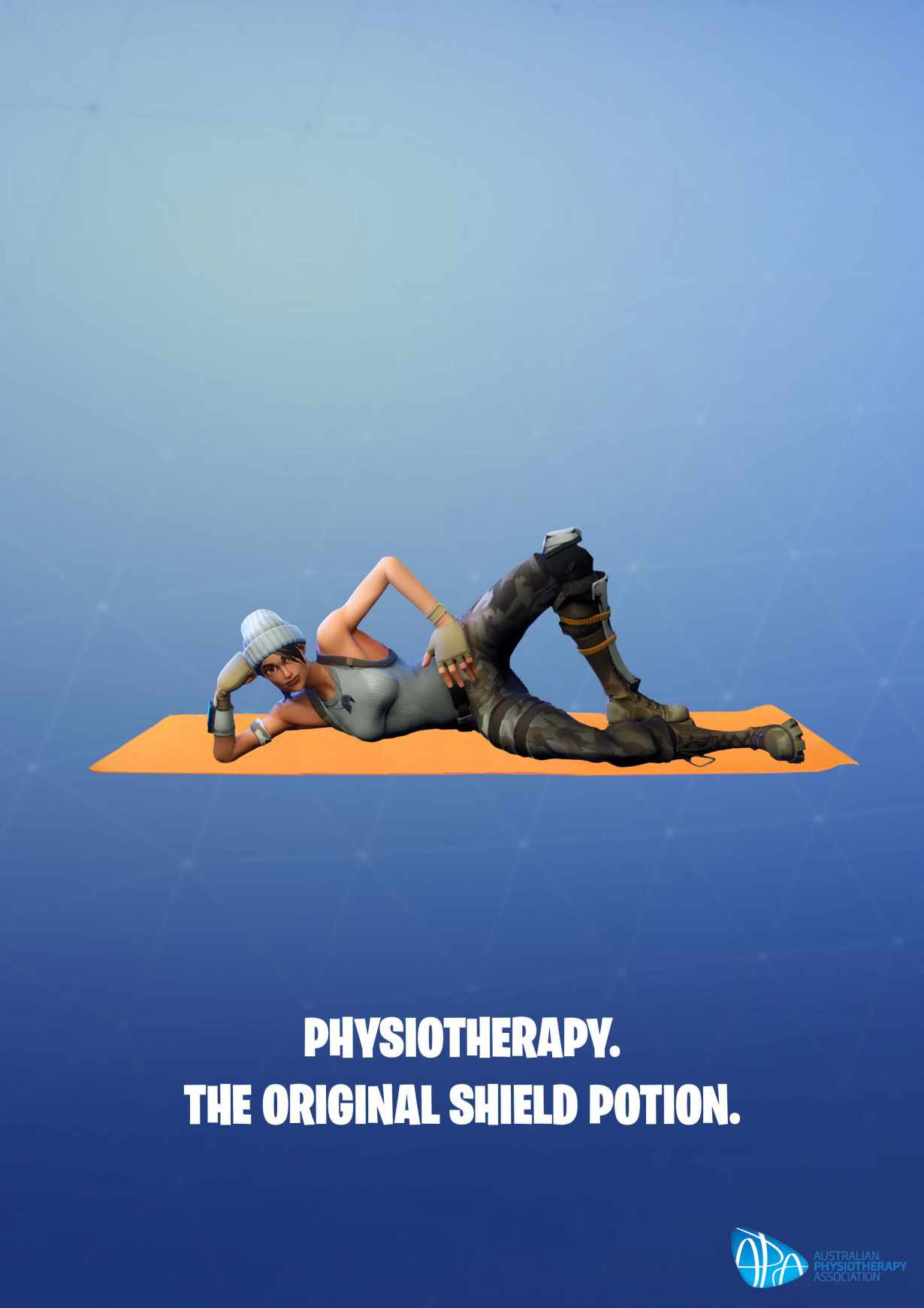Australian Physiotherapy Association Print Ad - The Fortnite Physio, 3
