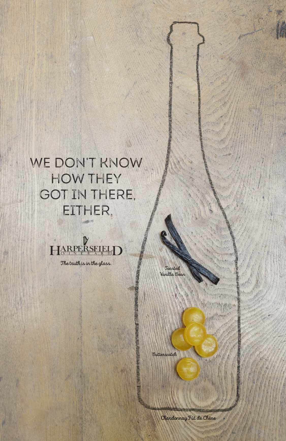 Harpersfield Vineyards Print Ad - Got In There