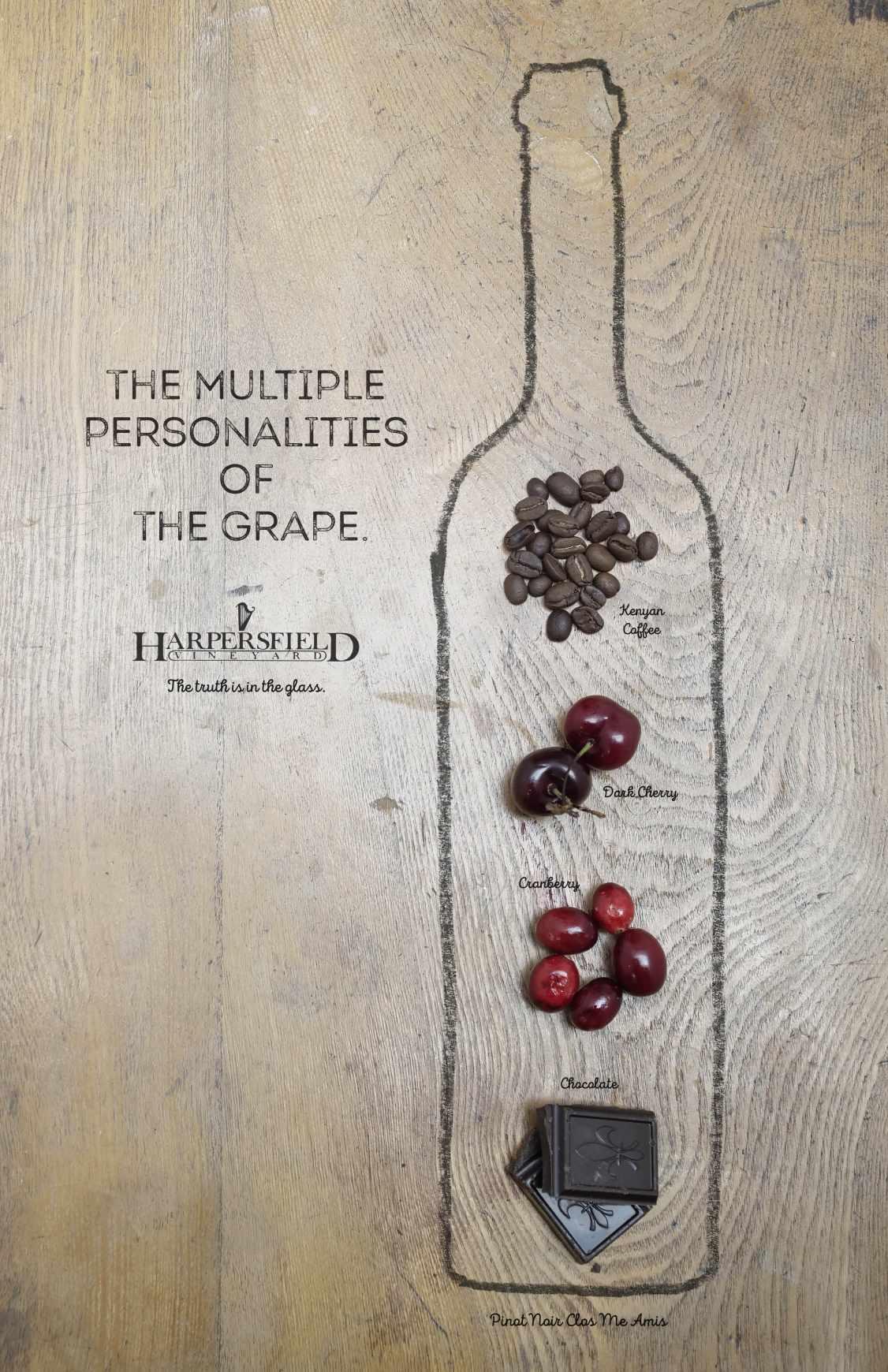 Harpersfield Vineyards Print Ad - Multiple Personalities