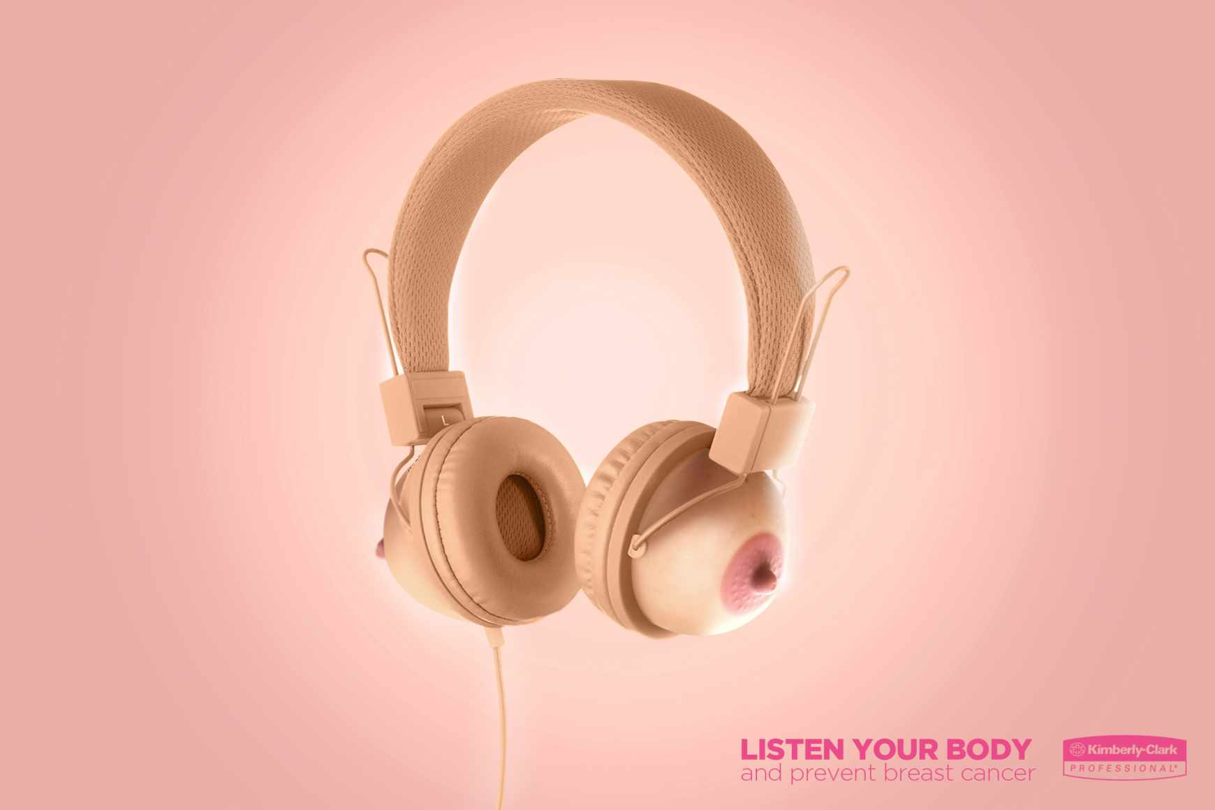 Kimberly-Clark Print Ad - Headphones