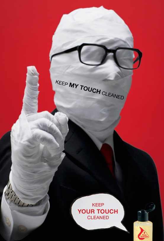 Hand sanitizer print ad