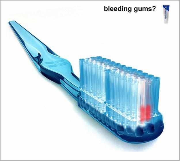 parodontax: toothbrush & tooth