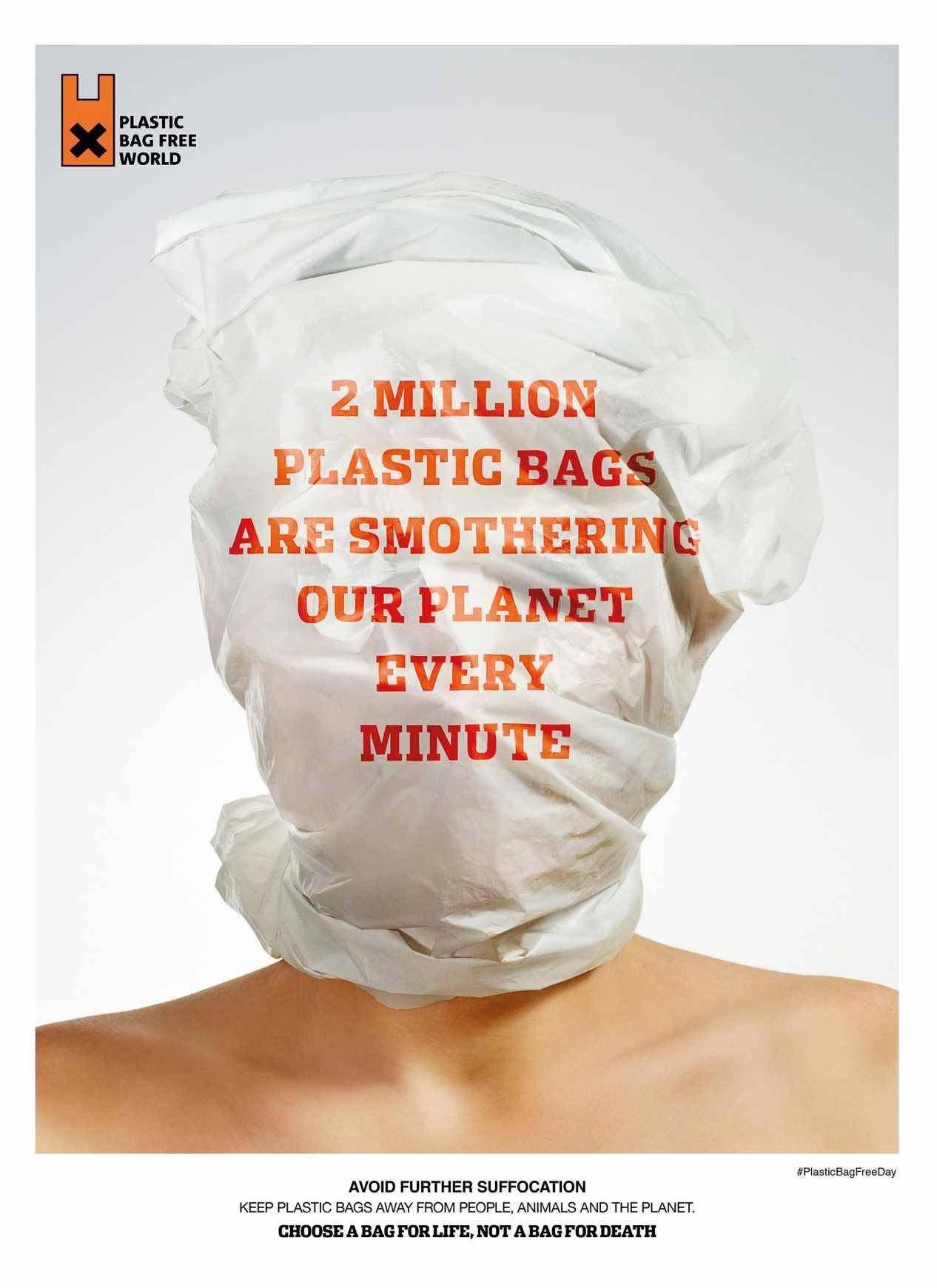 Plastic Bag Free World Print Ad - Minute