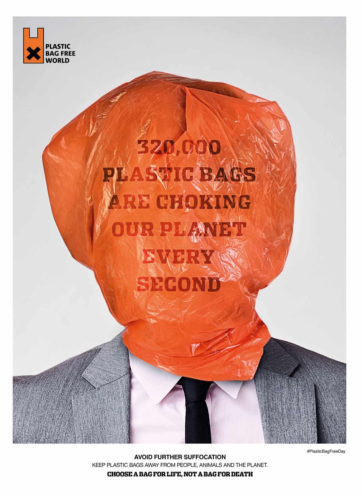 Plastic Bag Free World Print Ad - Second