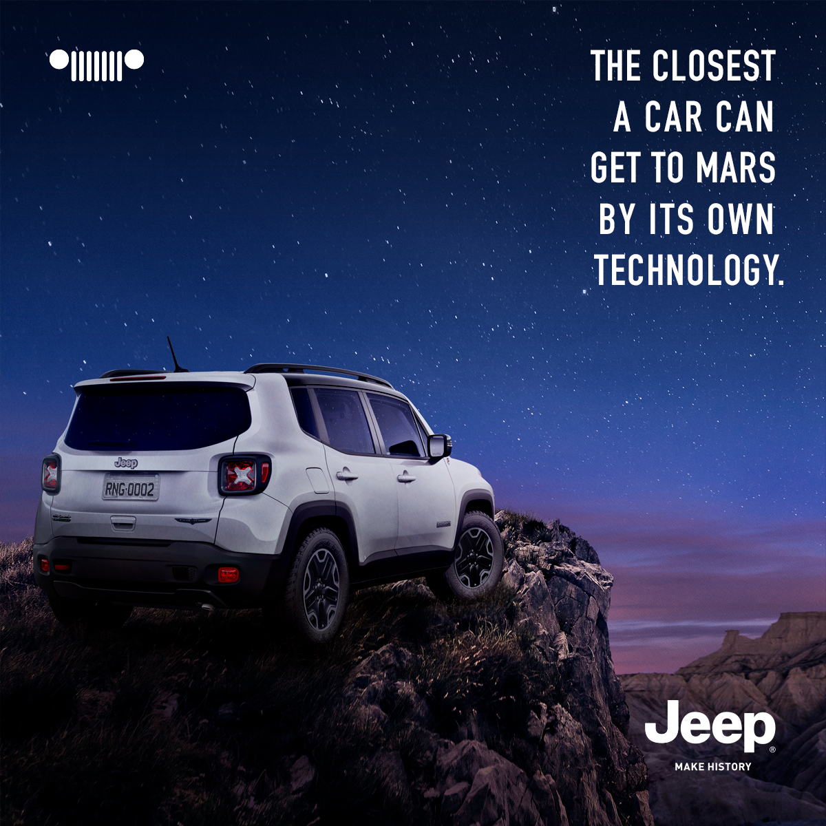 Jeep Print Ad - The Closest a Car Can Get to Mars by its Own Technology
