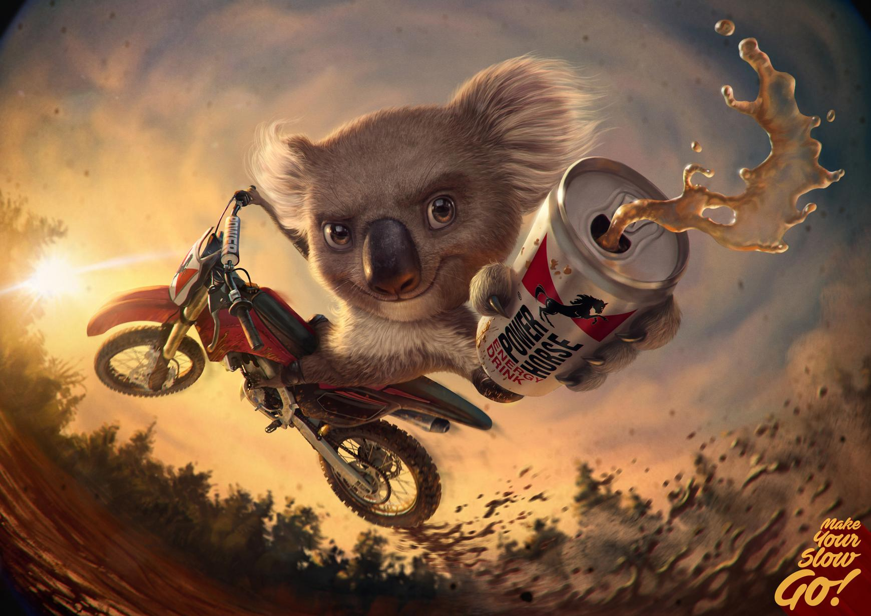 Power Horse Print Ad - Koala