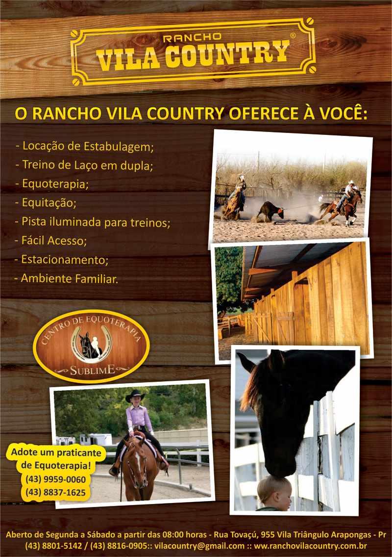 Folheto para o Bar do Rancho Vila Country