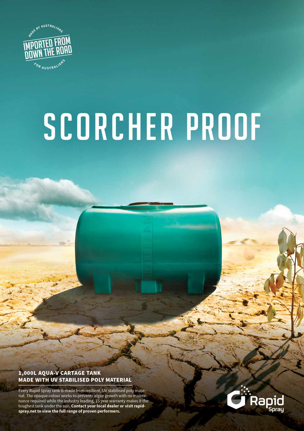 Rapid Spray Print Ad - Scorcher Proof