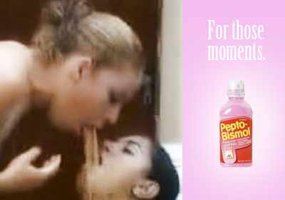 Two Girls One Cup Pepto Bismol