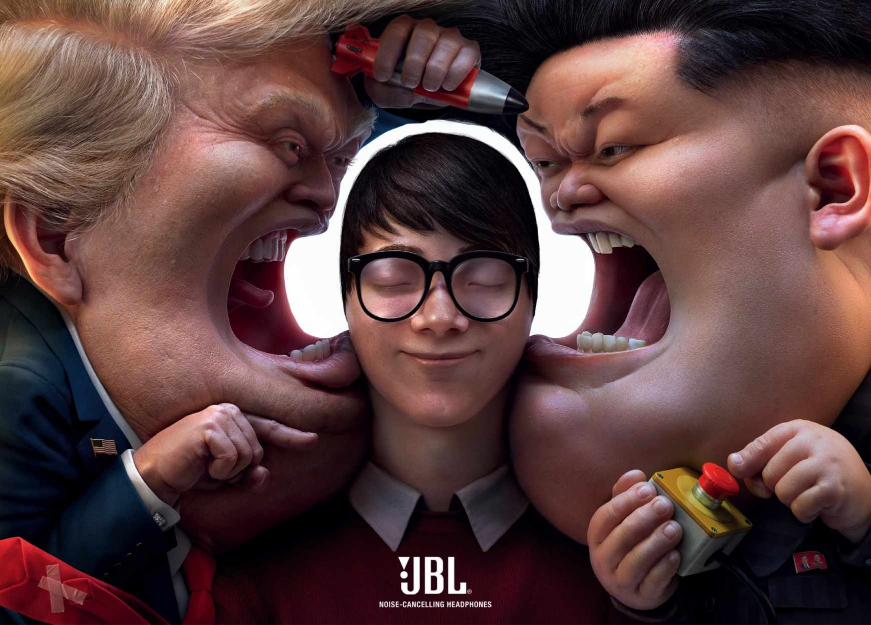 JBL Print Ad - Block out the Chaos, World Leaders