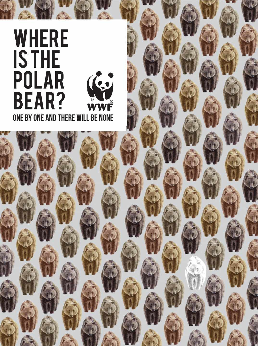 WWF Print Ad - One by One There Will be None, 2