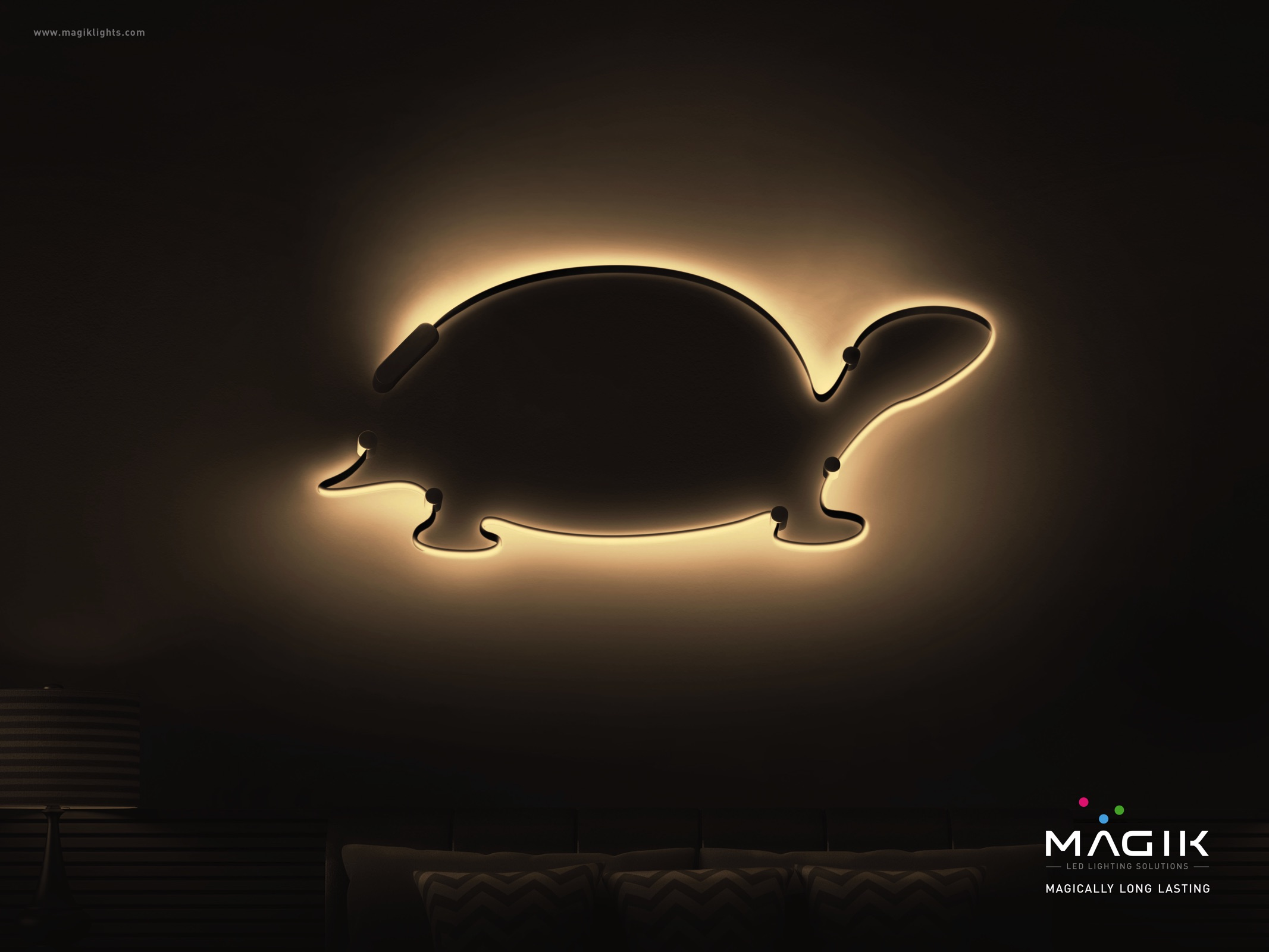tortoise lighting. Magik Lights Print Ad - Tortoise Lighting