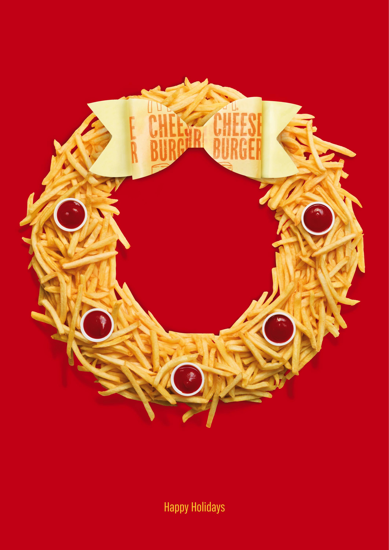 mcdonald u0026 39 s print advert by leo burnett  wreath